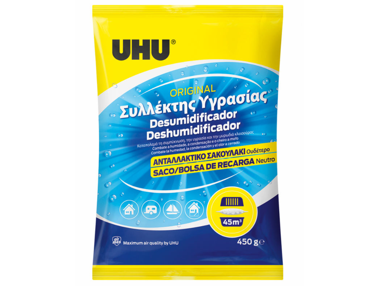 Air dehumidifier tablets and refill packs
